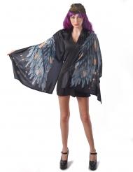 Costume ali di angelo poncho nero donna