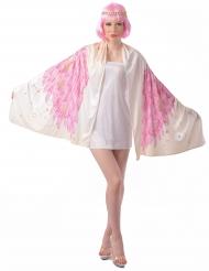Costume ali di angelo poncho rosa donna