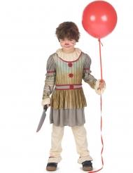 Costume clown terrificante grigio bambino