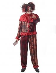 Costume clown terrificante rosso uomo