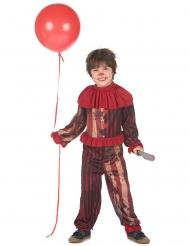 Costume clown terrificante rosso bambino