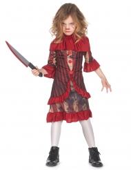 Costume clown terrificante rosso bambina