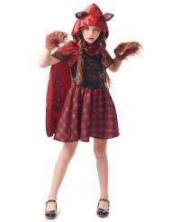 Costume Cappuccetto Rosso lupo mannaro bambina