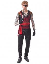 Costume pirata tatuato uomo