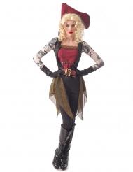 Costume pirata tatuato donna
