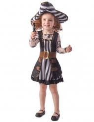 Costume pirata tatuato bambina
