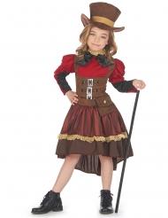 Costume steampunk lusso bambina