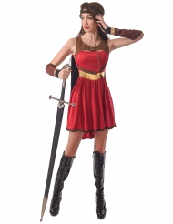 Costume guerriera medievale rossa donna