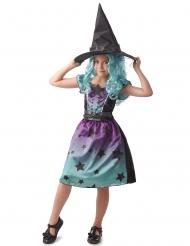 Costume strega blu bambina