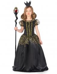 Costume cattiva regina nera bambina