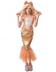 Costume sirena arancione bambina