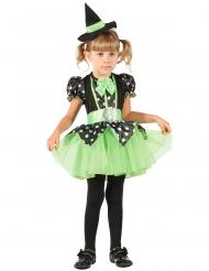 Costume strega verde per bambina