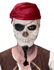 Maschera cranio di pirata adulto