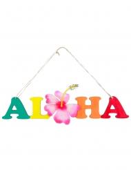 Cartello in legno Aloha