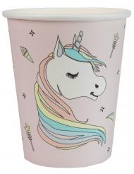 10 Bicchieri in cartone unicorno