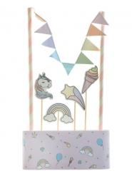Decorazioni torta unicorno