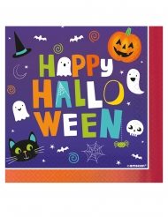 16 Tovaglioli in carta Halloween Friends 33 x 33 cm