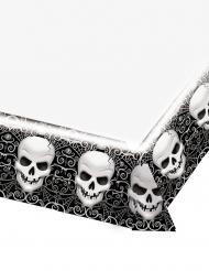 Tovaglia in plastica con teschi Halloween 137 x 259 cm