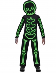 Costume scheletro fosforescente bambino