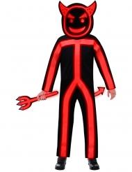 Costume diavolo fosforescente bambino