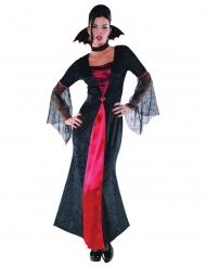 Costume Vampiro rosso e nero per donna