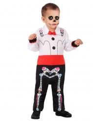 Costume scheletro Dia de los Muertos Bebè bambino