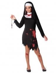 Costume da religiosa insanguinata bambina