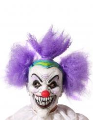 Maschera clown pazzoide adulto