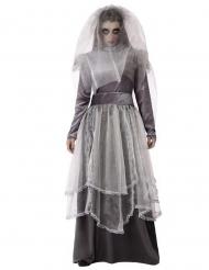 Costume sposa funebre grigio donna