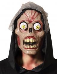 Maschera teschio con occhi esorbitanti adulto