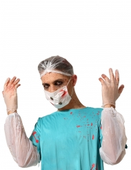 Kit 6 pezzi dottore insanguinato per adulto