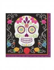 20 Tovaglioli in carta scheletro colorato 17 x 17 cm