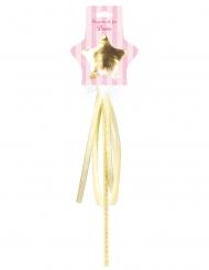 Bacchetta magica dorata per bambina