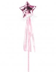 Bacchetta magica rosa per bambina