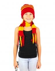 Cappello e sciarpa a righe bambino