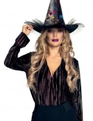 Cappello strega con stelle donna