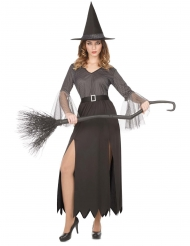 Costume strega argentata sexy donna