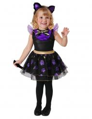 Costume da piccolo gatto viola bebè