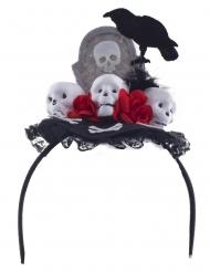 Cerchietto corvo Dia de los muertos per adulto