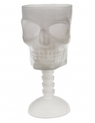 Bicchiere con teschio fosforescente 18 cm