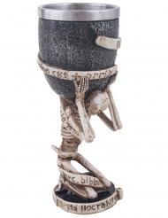 Bicchiere con scheletro 18 cm