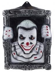 Quadro luminoso clown spaventoso 40 x 50 cm