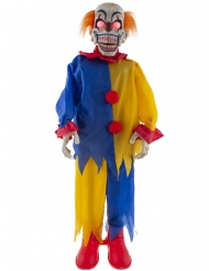 Decorazione animata e sonora clown terrificante 90 cm