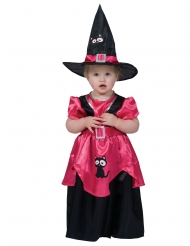 Costume strega rosa bebè