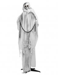 Decorazione animata luminosa e sonora scheletro bianco 240 cm