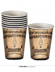 8 Bicchieri in cartone Ouija 10 cm