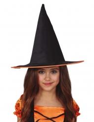 Cappello da strega con bordo arancione bambina