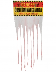 Decorazione pannello zona contaminata Halloween