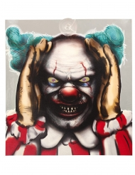 Decorazione luminosa clown invadente 28 x 31 cm