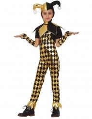 Costume da giullare dorato per bambina